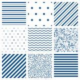 Seamless pattern vector set Stock Photos