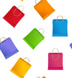 Seamless pattern Vector shopping bag on sale Stock Images