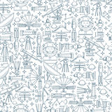 Seamless pattern vector space icon Royalty Free Stock Image