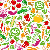 Seamless pattern vector vegetables Royalty Free Stock Photos
