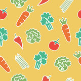 Seamless pattern of vegetable cartoon Royalty Free Stock Photos