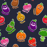 Seamless pattern with vegetable characters Stock Image