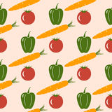 Seamless pattern with vegetable motive Royalty Free Stock Images