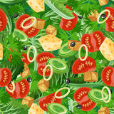 Seamless pattern with vegetable organic food. Stock Photos