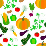 Seamless pattern of vegetables. Pattern of autumn harvest for your design Royalty Free Stock Photography