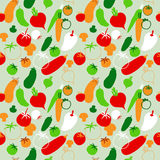 Seamless pattern with vegetables on bright background Stock Image
