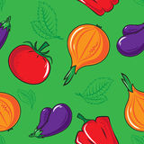 Seamless pattern with vegetables. Royalty Free Stock Photos