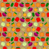 Seamless pattern with vegetables Royalty Free Stock Image
