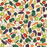 Seamless pattern vegetables Royalty Free Stock Photo