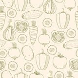 Seamless pattern of vegetables Royalty Free Stock Photo