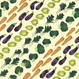 Seamless pattern of vegetables diagonally Royalty Free Stock Image