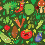 Seamless pattern with vegetables. EPS 10 Stock Photos