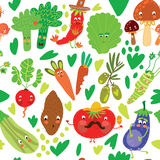 Seamless pattern with vegetables. Royalty Free Stock Photography