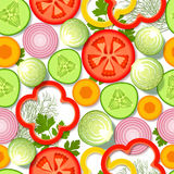 Seamless pattern with vegetables and greens Royalty Free Stock Photos