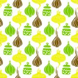 Seamless pattern with vegetables. Healthy food pattern. Illustration of vegetables in flat style stock illustration