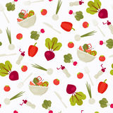 Seamless pattern with vegetables Stock Images