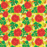 Seamless pattern with vegetables and nuts on yellow background Royalty Free Stock Image
