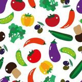 Seamless pattern vegetables Stock Photography