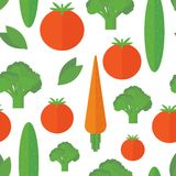 Seamless pattern with vegetables. Vector background. Seamless pattern with vegetables on a white background. Vector background stock illustration