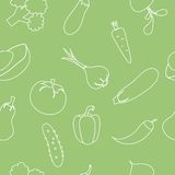 Seamless pattern with vegetables. Vector illustration. EPS 8 Royalty Free Stock Photography