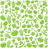 Seamless pattern with vegetables Stock Photos