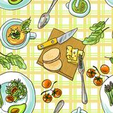 Seamless pattern vegetarian Royalty Free Stock Photography