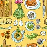 Seamless pattern vegetarian Royalty Free Stock Photos