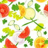Seamless pattern of vegitables. With watercolor painting textures Royalty Free Stock Photo