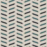 Seamless pattern with vertical braid ornament. Octagons tile background. Herringbone motif. Geometric wallpaper. Seamless pattern with vertical braid ornament stock illustration
