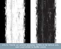 Seamless Pattern - Vertical Brush Stroke Positive and Negative Royalty Free Stock Photography