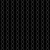 Seamless pattern with vertical chains. Vector monochrome texture. Seamless pattern. Vector monochrome pattern, white thin curved lines on black background vector illustration