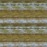 Seamless pattern of textured wooden plank wall with moss. Seamless pattern of very old wooden plank wall with moss for design and matte painting Royalty Free Stock Images