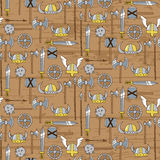 Seamless pattern with viking weapons Royalty Free Stock Image