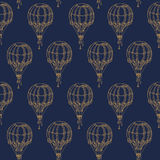 Seamless Pattern with Vintage Balloons Royalty Free Stock Image