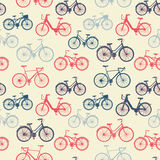 Seamless pattern with vintage bicycles Stock Images