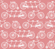 Seamless Pattern with vintage bicycles Royalty Free Stock Photo
