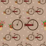 Seamless pattern with vintage bicycle - vector illustration, eps stock illustration
