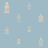 Seamless pattern with vintage birdcages. Royalty Free Stock Image