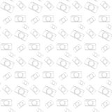 Seamless pattern vintage camera, vector eps10 Stock Photography