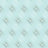 Seamless pattern vintage camera, vector eps10 Royalty Free Stock Photos
