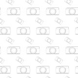 Seamless pattern vintage camera, vector eps10 Royalty Free Stock Image