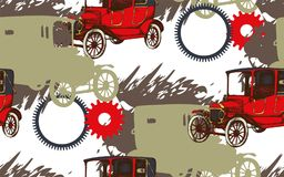 Pattern of vintage car vector illustration