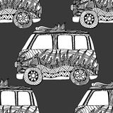 Seamless Pattern of Vintage car Royalty Free Stock Image