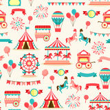 Seamless pattern - vintage carnival Stock Photo
