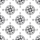 Seamless pattern of a vintage compass Royalty Free Stock Photography