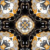 Seamless pattern. Vintage decorative elements. beautiful background Royalty Free Stock Photo