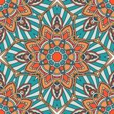 Seamless pattern. Vintage decorative elements. Hand drawn background. Islam, Arabic, Indian, ottoman motifs. Mandala vector seamless pattern. Vintage decorative vector illustration