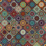 Seamless pattern. Vintage decorative elements. Hand drawn background. Islam, Arabic, Indian, ottoman motifs. Perfect for printing Royalty Free Stock Images