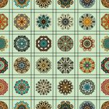 Seamless pattern. Vintage decorative elements. Hand drawn background. Islam, Arabic, Indian, ottoman motifs. Perfect for printing Royalty Free Stock Photo
