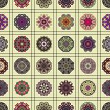 Seamless pattern. Vintage decorative elements. Hand drawn background. Islam, Arabic, Indian, ottoman motifs. Perfect for printing Royalty Free Stock Photos